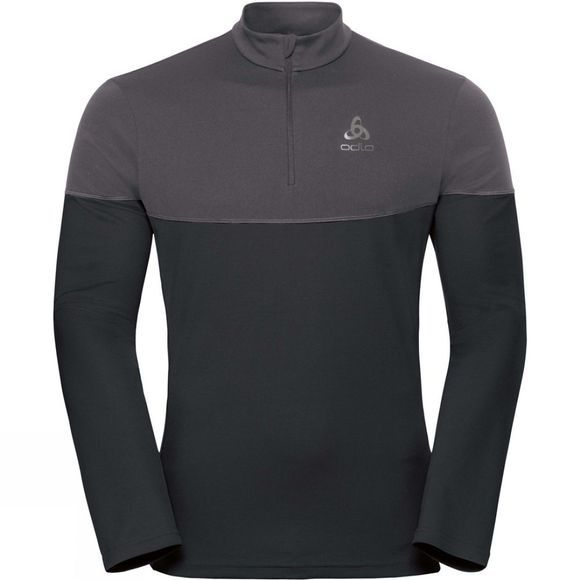 Odlo Men's Core Light Midlayer 1/2 Zip Black/Odlo Graphite Grey