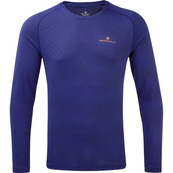 Ronhill Mens Stride Long Sleeve Tee Deep Sea