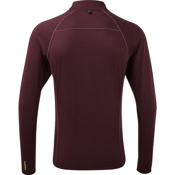 Ronhill Mens Infinity Merino 1/2 Zip Tee Fig/Charcoal