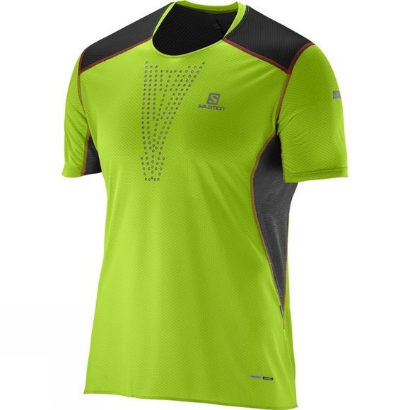Salomon Mens S-Lab Sense Tee Granny Green / Black