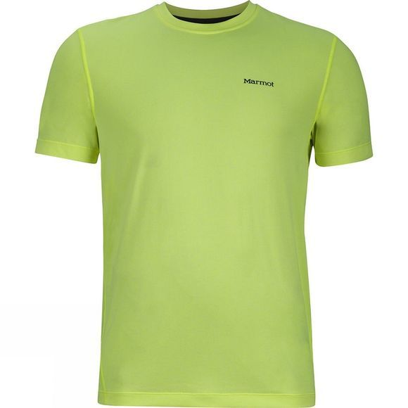 Marmot Mens Conveyor Short Sleeve Tee Hyper Yellow Heather