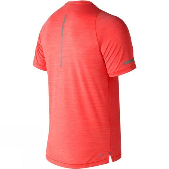 New Balance Mens Seasonless Short Sleeve Shirt Flame Heather