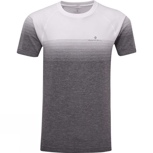 Ronhill Men's Infinity Marathon Short Sleeve Tee White/Grey Marl