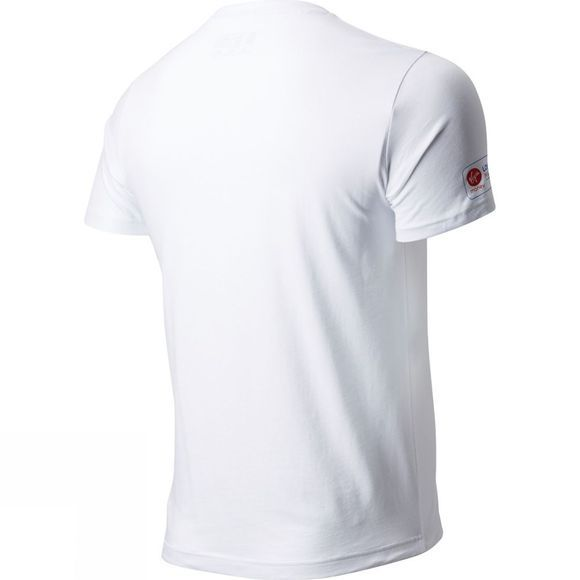 New Balance Men's Run London River Short Sleeve Top White