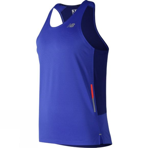 New Balance Mens NB Ice Singlet Pacific