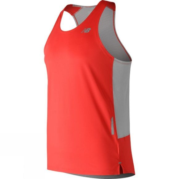 New Balance Mens NB Ice Singlet Flame