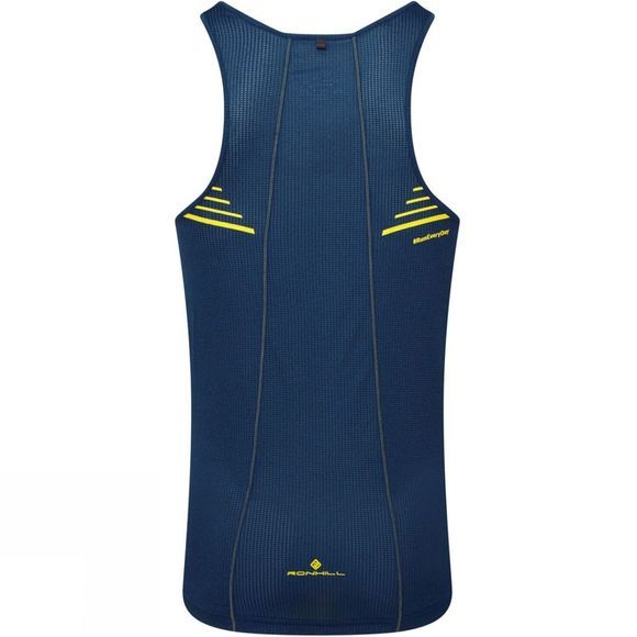 Ronhill Men's Stride Racer Vest Azurite/Midnight Blue/Acid