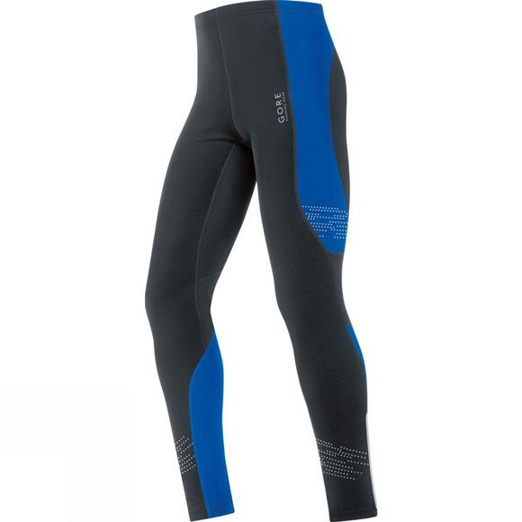 Gore Running Wear Mens MYTHOS 2.0 Thermo Tights black/brilliant blue