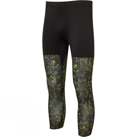 Ronhill Men's Momentum 3-Quarter Tight Dark Khaki Camo