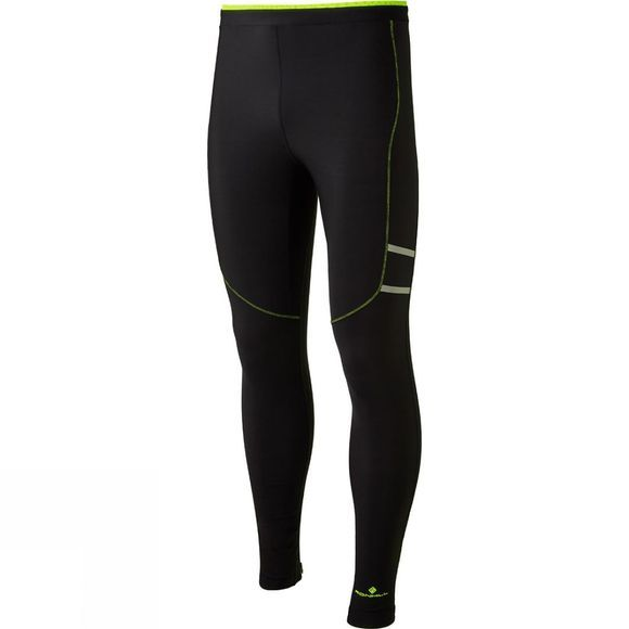 Ronhill Mens Stride Winter Tights Black/Fluo Yellow