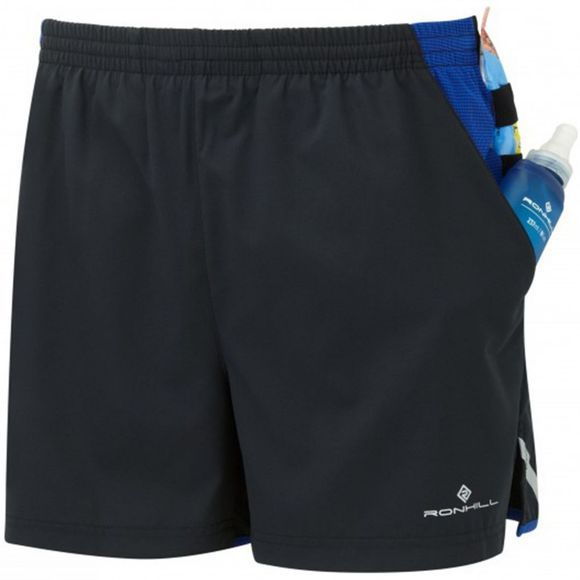 Ronhill Mens Stride Cargo Shorts Black/Cobalt