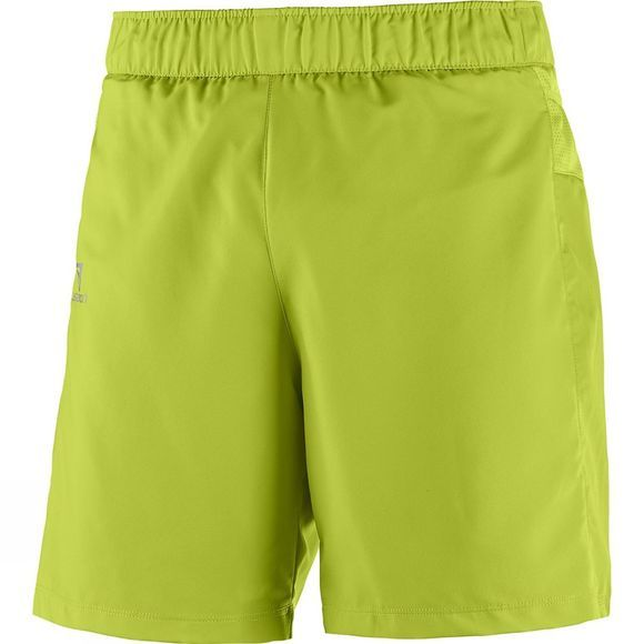 Salomon Mens Trail Runner Shorts Lime Green