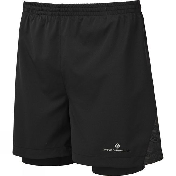 Ronhill Men's Momentum Afterlight Twim Short Black/Reflect
