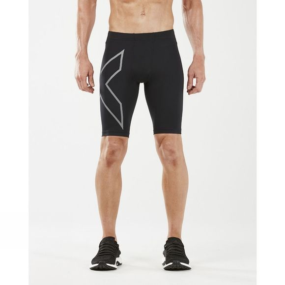 2XU Men's Run Compression Shorts Black/Silver