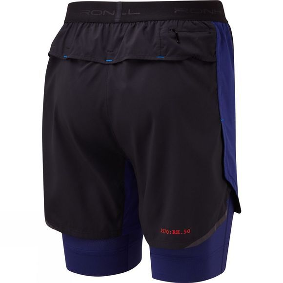 Ronhill Stride Revive Twin Short Black/Midnight Blue