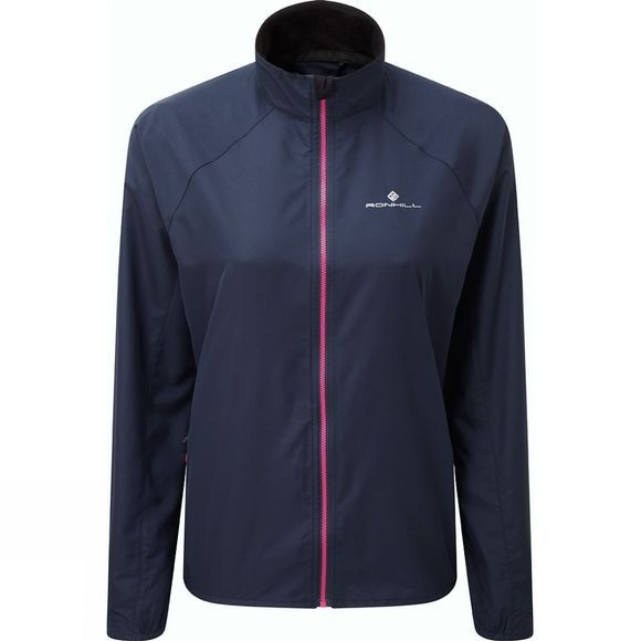 Ronhill Womens Everyday Jacket Deep Navy/Azalea