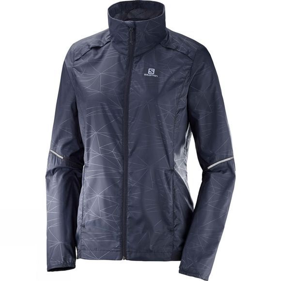 Salomon Womens Agile Wind Jacket Graphite
