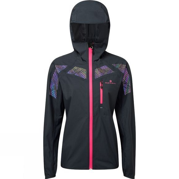Ronhill Womens Infinity Nightfall Jacket  Black/Azalea Reflect