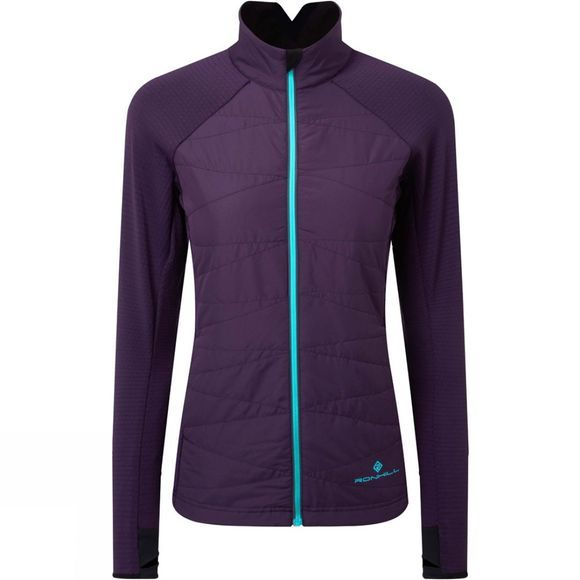 Ronhill Womens Stride Hybrid Jacket Blackberry/Aquamint