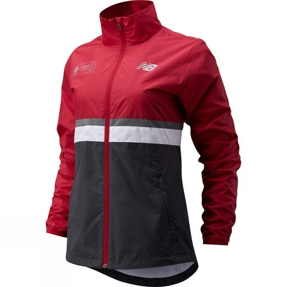 New Balance Women's London Edition Jacket Deep Red