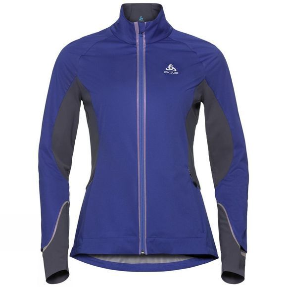 Odlo Womens Zeroweight Pro Jacket Clematis Blue - Odyssey Gray