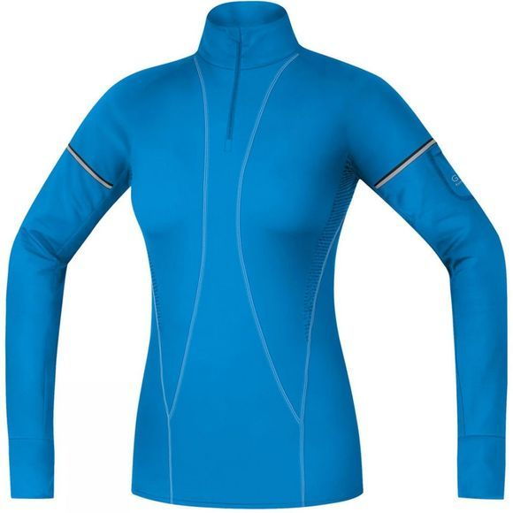 Gore Running Wear Womens Air Thermo Lady Shirt Dk Blue