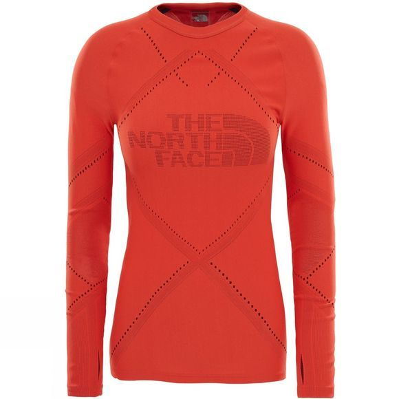 The North Face Womens Flight Pack Long Sleeve Top  Fire Brick Red