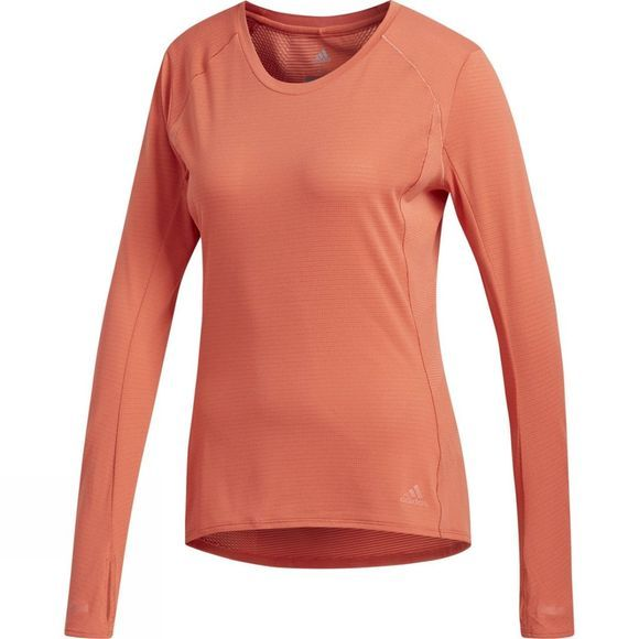 Adidas Womens Long Sleeve Supernova Tee Trace Scarlet