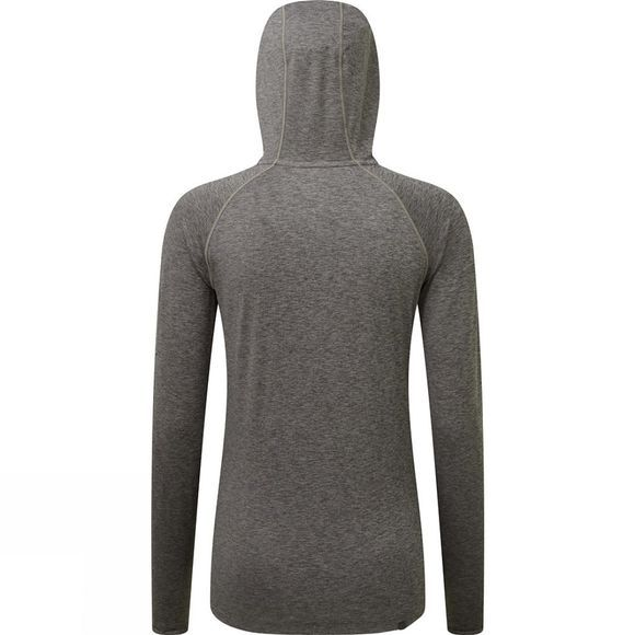 Ronhill Womens Momentum Workout Hoodie  Grey Marl/Apricot