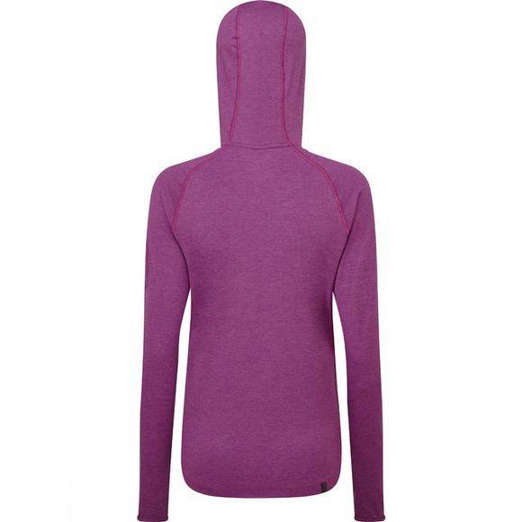 Ronhill Womens Momentum Workout Hoodie  Grape Juice/Hot Coral