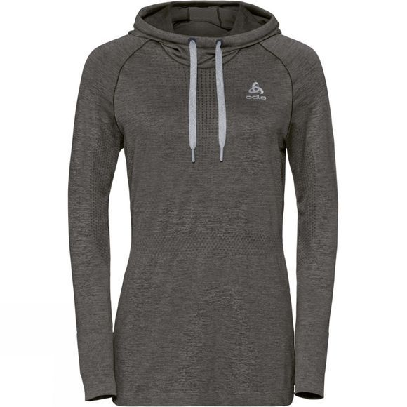 Odlo Women's Irbis Warm Midlater Hoodie Black/Odlo Steel Grey