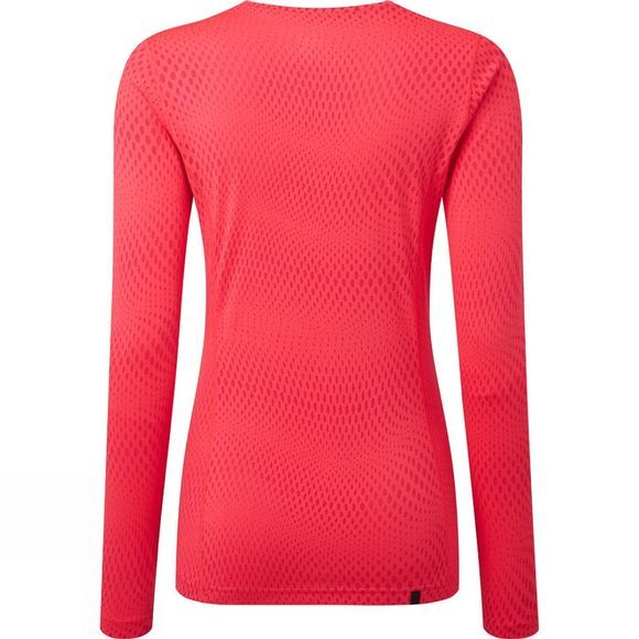 Ronhill Womens Stride Long Sleeve Tee Hot Pink/Charcoal