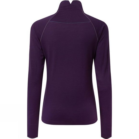 Ronhill Womens Infinity Merino 1/2 Zip Tee Blackberry/Aquamint