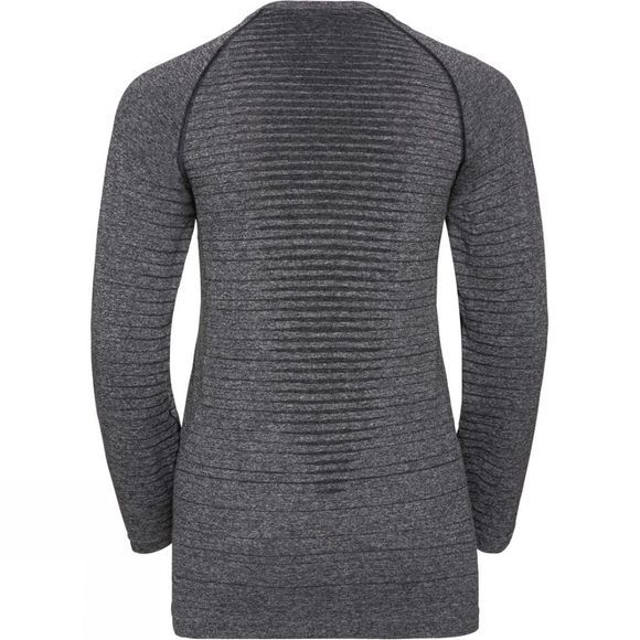 Odlo Womens Seamless Element Long-Sleeve Top Grey Melange