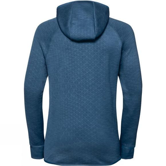 Odlo Womens Lou Midlayer Hoody Blue Wing Teal - AOP Fw19