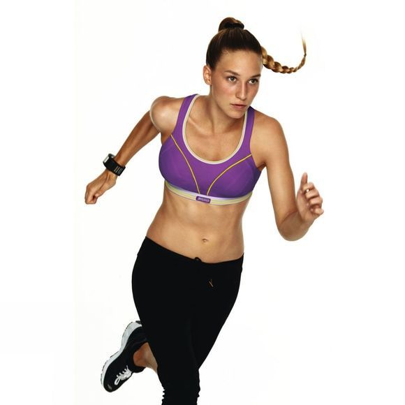Shock Absorber Run Bra A To C Cup Purple/Bright Green