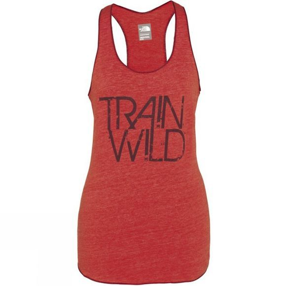 The North Face Women's Graphic Play Hard Tank Melon Red Heather