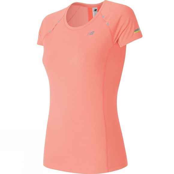 New Balance Womens NB Ice Short Sleeve Tee Bleached Sunrise