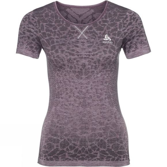 Odlo Womens BL Top Crew Neck Blackcomb Light  Dark Purple/Mid Purple