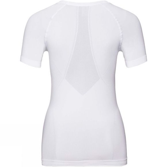 Odlo Womens Performance Light SUW Crew Neck Short Sleeve Top White
