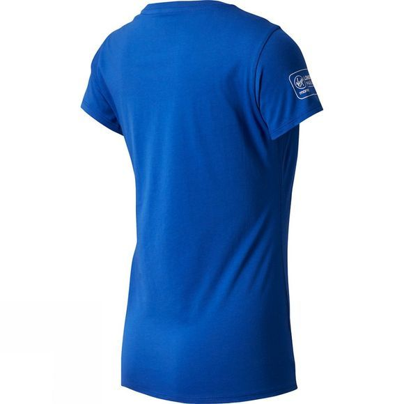 New Balance Women's London Tower Short Sleeve Top Blue