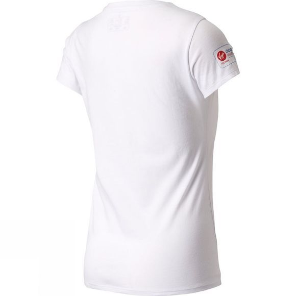 New Balance Women's London Queen Short Sleeve Top White