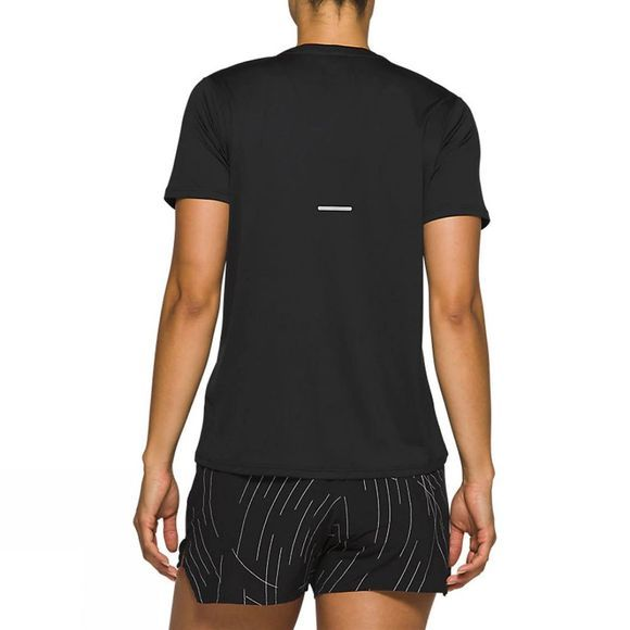 Asics Womens Night Track Short Sleeve Top Black