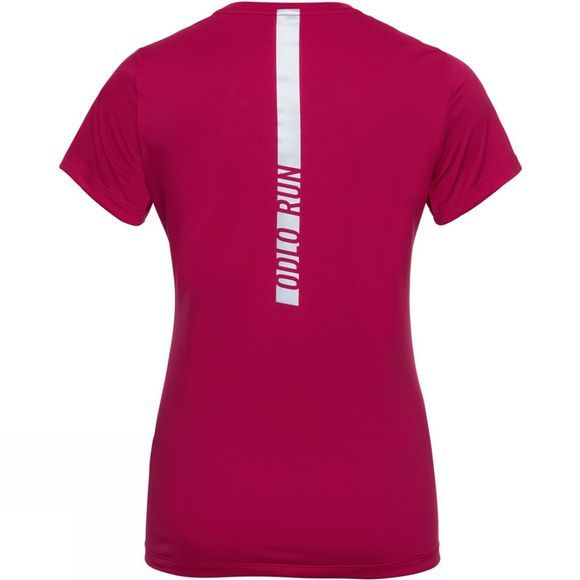 Odlo Womens Element Light Print T-Shirt  Cerise - Placed Print Fw19