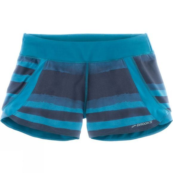 Brooks Womens Chaser 3in Shorts River Scape