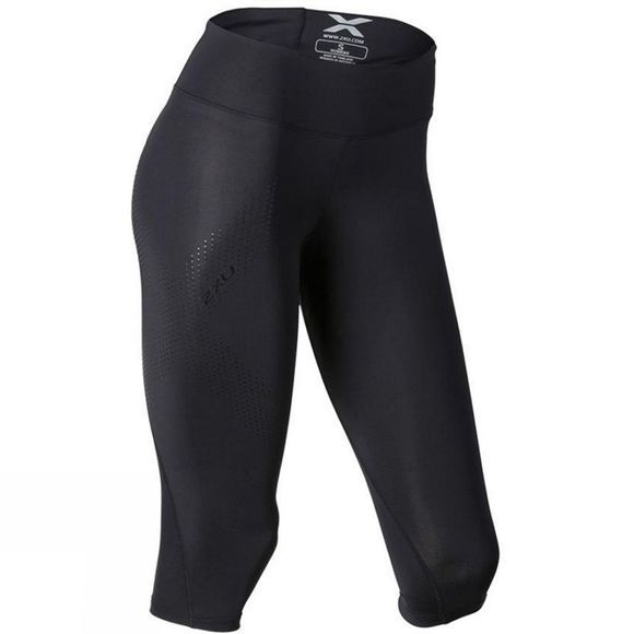 2XU Womens Mid-Rise Compression 3/4 Tights Black