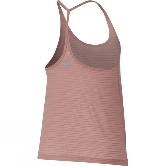 Nike Womens Miler Strappy Tank Rust Pink/Heather