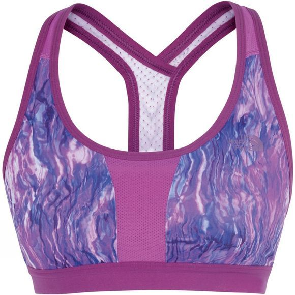 The North Face Womens Stow-N-Go IV Bra Wood Violet Oil Spill Print