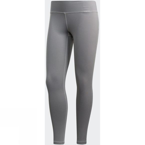 Adidas Womens Believe This Regular-Rise Heathered 7/8 Tights Chalk Pearl S18/Grey Four F17