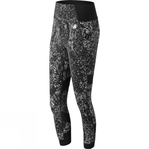 New Balance Womens Printed Evolve Tights Sea Salt